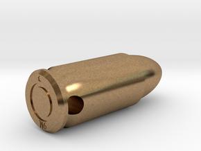Smykke - 9mm. patron vedhæng in Natural Brass