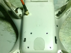 Phantom 2 Shell Bottom Cover in White Processed Versatile Plastic