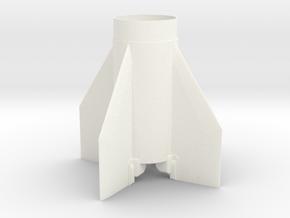 SCUD-B Fin Unit (Fits BT-60 for 18 mm motors) in White Processed Versatile Plastic