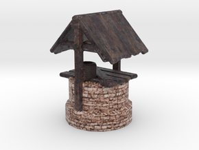 Miniature Ancient water well in Full Color Sandstone