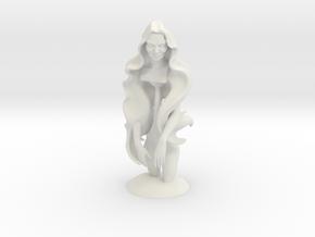 WomanSculpture in White Natural Versatile Plastic