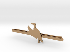 Duck 2 Tie Clip  in Polished Brass