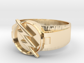 Reverse Flash Ring Size 11 20.68 mm in 14K Yellow Gold