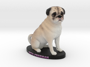Custom Dog Figurine - Vito in Full Color Sandstone