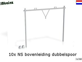 Catenary (10 set) Dutch style 2 track (1:160) in Smooth Fine Detail Plastic