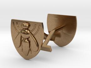 Bee (industry) cufflinks in Natural Brass
