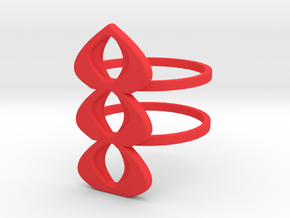 mod atomic ring size 10 in Red Processed Versatile Plastic