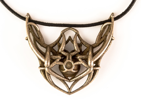 Cosmic Pendant in Polished Bronzed Silver Steel
