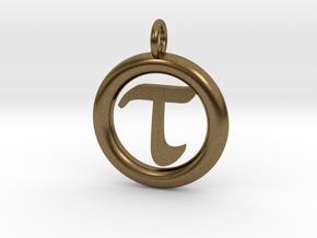 Tau Open Unit(cm) Pendant in Natural Bronze