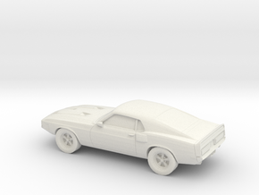 1/87 1969 Ford Shelby GT 500  in White Natural Versatile Plastic