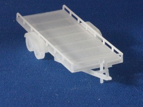 Flatbed Trailers X2 HO Scale 1/87 in Smooth Fine Detail Plastic