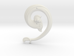 """Art Nouveau House Number: 9 at 6"""" in White Natural Versatile Plastic"""