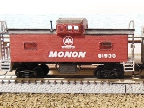 Monon Caboose - Zscale in Frosted Ultra Detail