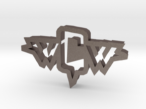inVasion logo cookie cutter in Polished Bronzed Silver Steel