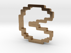 pixely pizza guy cookie cutter in Natural Brass