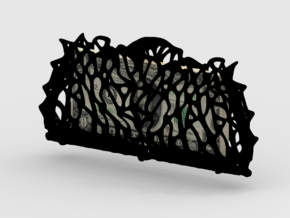 Voronoi Clusters Carry Case in Black Natural Versatile Plastic
