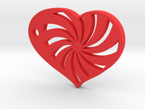 Spiral Heart in Red Strong & Flexible Polished