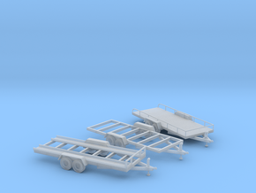 Trailer Assortment S Scale in Smooth Fine Detail Plastic