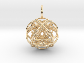 VESICA VECTOR in 14K Yellow Gold