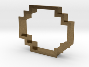 pixely cookie cutter in Natural Bronze