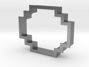 pixely cookie cutter in Natural Silver