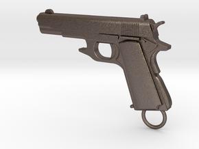 Gun Bottle Opener 2 COLT in Polished Bronzed Silver Steel