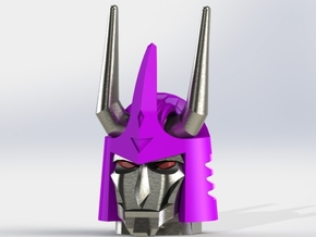 Cyclonus Head - Voyager Scale in Smooth Fine Detail Plastic