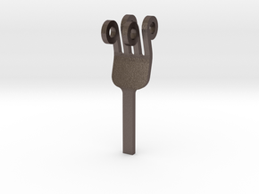 Fork Head - Innovation vs. Utility in Polished Bronzed Silver Steel