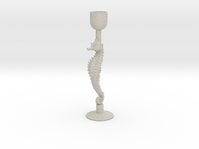 Seahorse candle holder/Zeepaardje kaarsenhouder in Sandstone