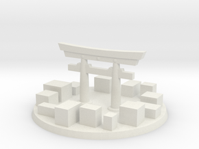 Tokyo City Marker in White Natural Versatile Plastic
