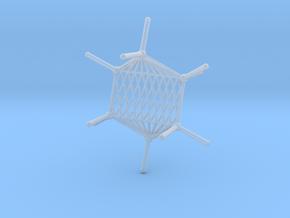 Cyclohexane Hammock in Smooth Fine Detail Plastic
