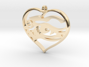Heart and Soul in 14K Yellow Gold