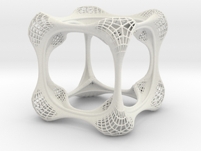 filigree cube in White Strong & Flexible