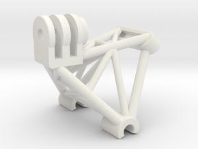 GoPro compatible T-Rex 450 Mount v2 in White Natural Versatile Plastic