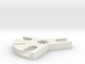 Iceblock Stick Joiner (3 way) in White Natural Versatile Plastic