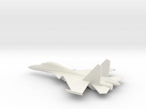 Su-30 Flanker C Russian Jet 1/285 scale in White Natural Versatile Plastic