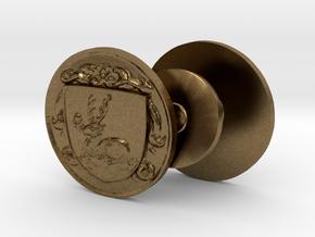 Bowen Family Crest Cufflinks in Natural Bronze