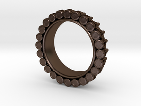 Bullet ring Ring(size = USA 3.5-4) in Polished Bronze Steel