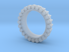 Bullet ring(size = USA 4-4.5) in Smooth Fine Detail Plastic