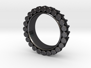 Bullet ring(size = USA 6) in Polished and Bronzed Black Steel