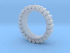 Bullet ring(size = USA 5.5) in Smooth Fine Detail Plastic