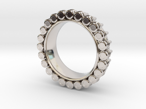 Bullet ring(size = USA 6.5) in Platinum