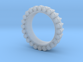 Bullet ring(size is = USA 7.5-8) in Smooth Fine Detail Plastic