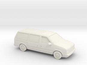 1/87 1984-86 Dodge Grand Caravan in White Natural Versatile Plastic