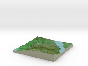 Terrafab generated model Wed Dec 31 2014 14:25:37  in Full Color Sandstone