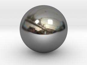 Precious metal sphere in Premium Silver