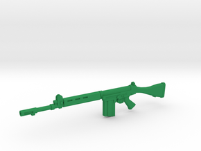 1/12 scale FN FAL in Green Processed Versatile Plastic