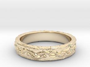 Ring of the earth(size = USA 6.5) in 14K Yellow Gold