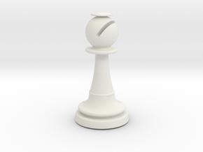 Inception Bishop Chess Piece (Lite) in White Natural Versatile Plastic