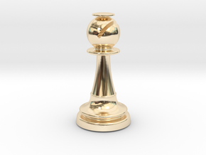 Inception Bishop Chess Piece (Lite) in 14K Yellow Gold